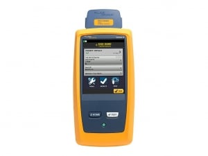 Messung und Kupferzertifizierung mit dem Fluke DSX2-8000.
